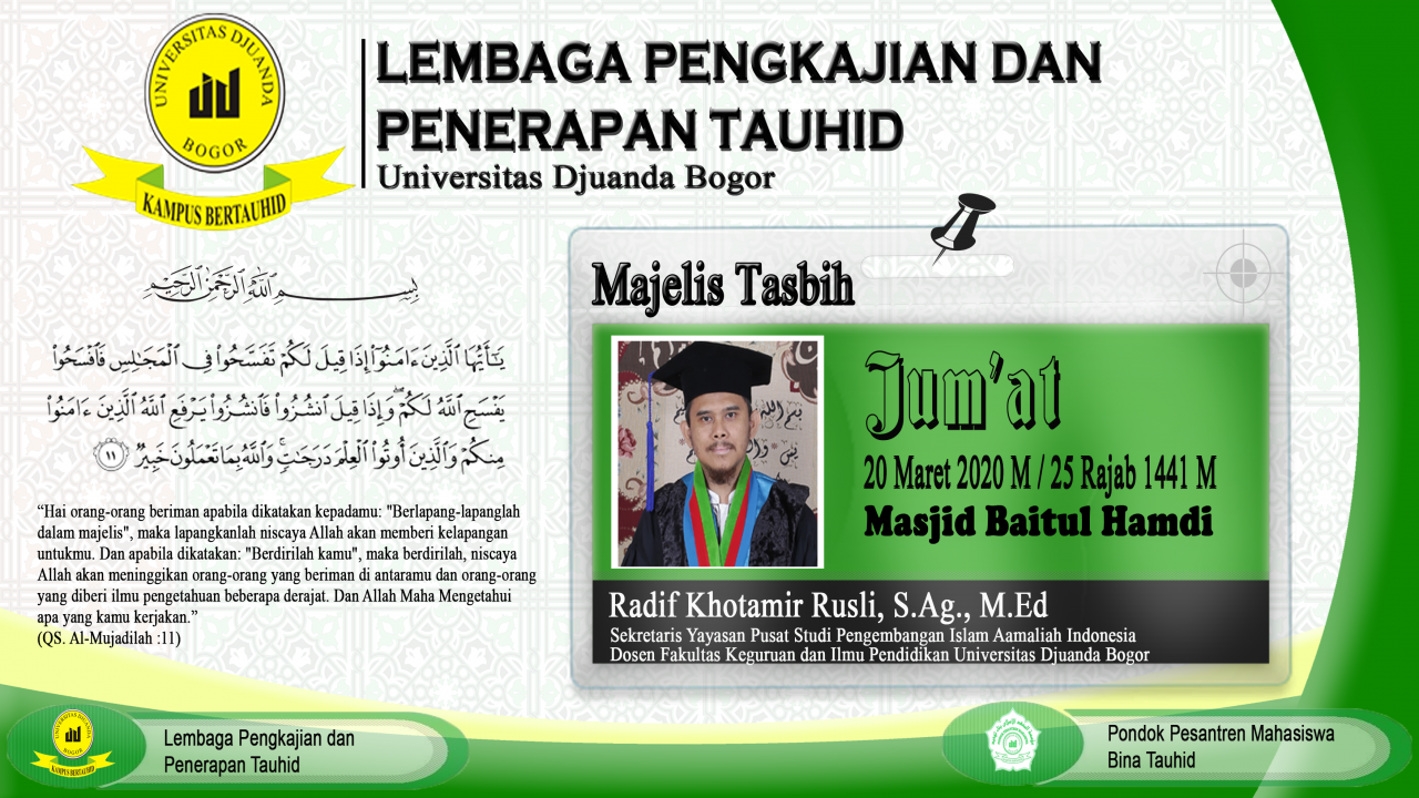 Welcome To LP2T & PP BINA TAUHID
